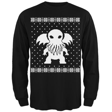Tee s Plus - Big Cthulhu Ugly Lovecraft Christmas Sweater Black Adult Long  Sleeve T-Shirt - Walmart.com dc3dd2e42