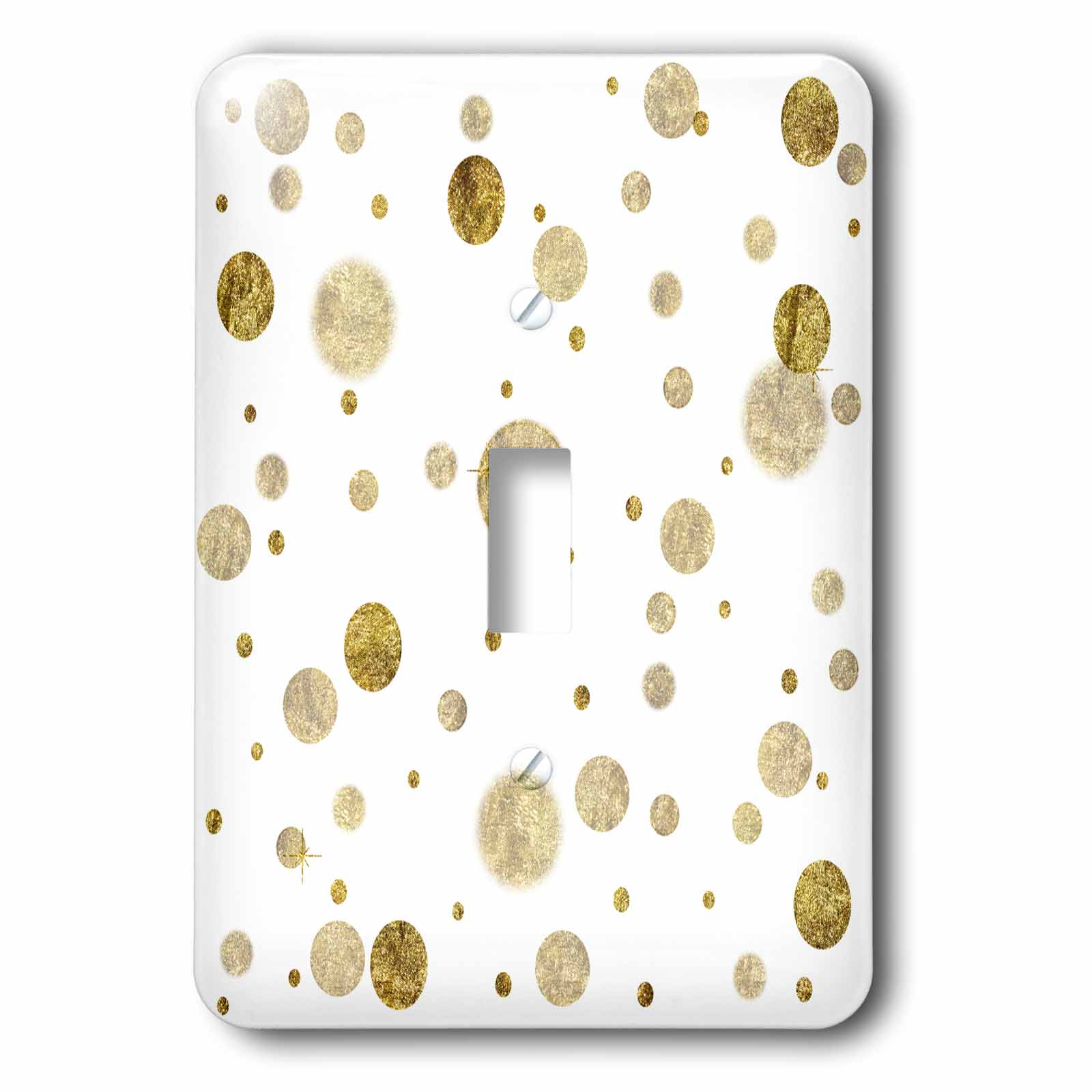 3dRose Chic Gold Bling Bokeh Confetti Dots, Double Toggle Switch
