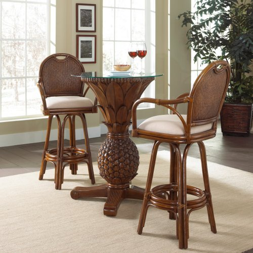 Hospitality Rattan Sunset Reef 3 Piece Pub Set with Cushions - TC Antique