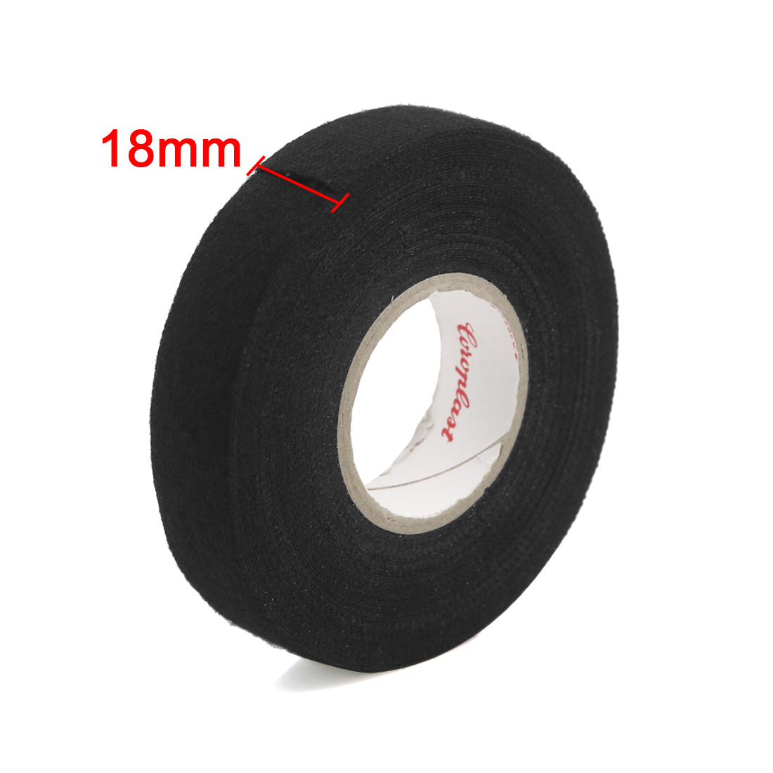 Black Nylon Auto Electrical Wiring Harness Insulating Tape 18mm Adhesive Width For Car