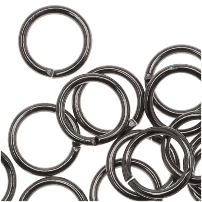 Gun Metal Plated Open 6mm Jump Rings 20 Gauge (50)