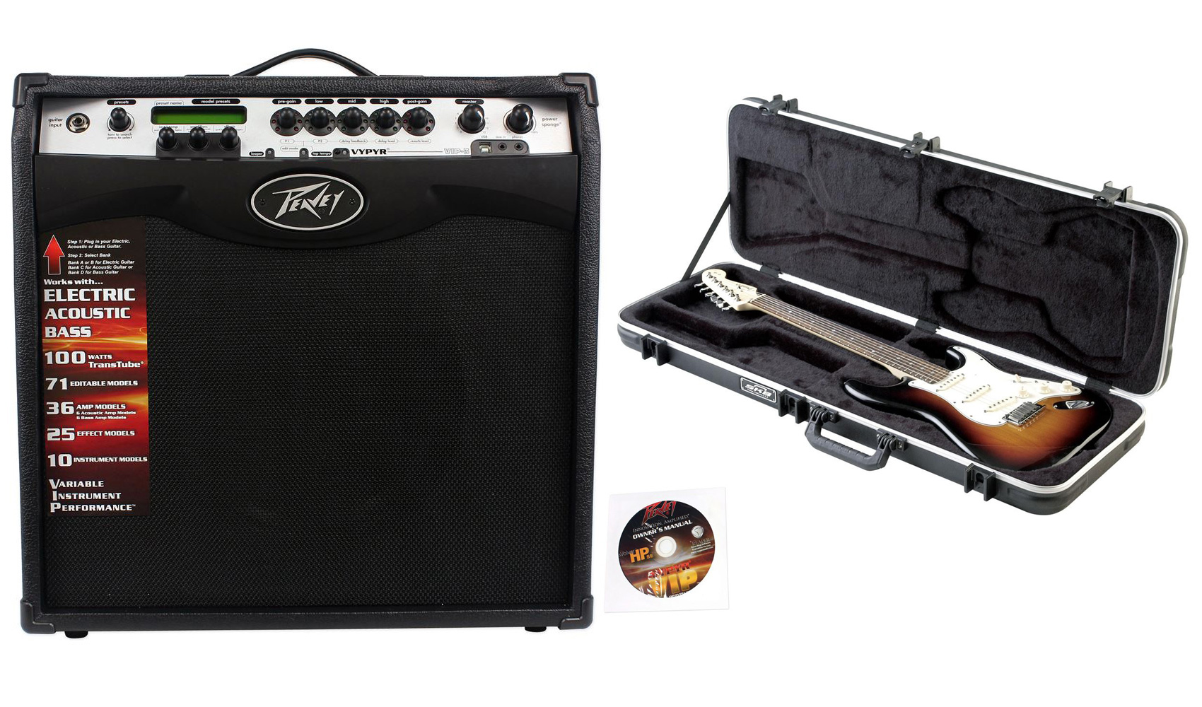 """Click here to buy Peavey Vypyr VIP 3 100 Watt 12"""" Combo Guitar Amp w  Amp Modelling+MIDI+Hard Case by Peavey."""