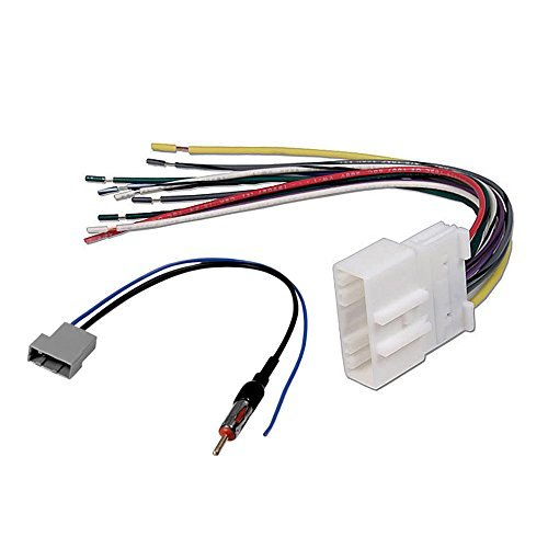aftermarket car stereo radio receiver wiring harness w radio rh walmart com GM Radio Wiring Harness Diagram Pioneer Car Stereo Wiring Adapters