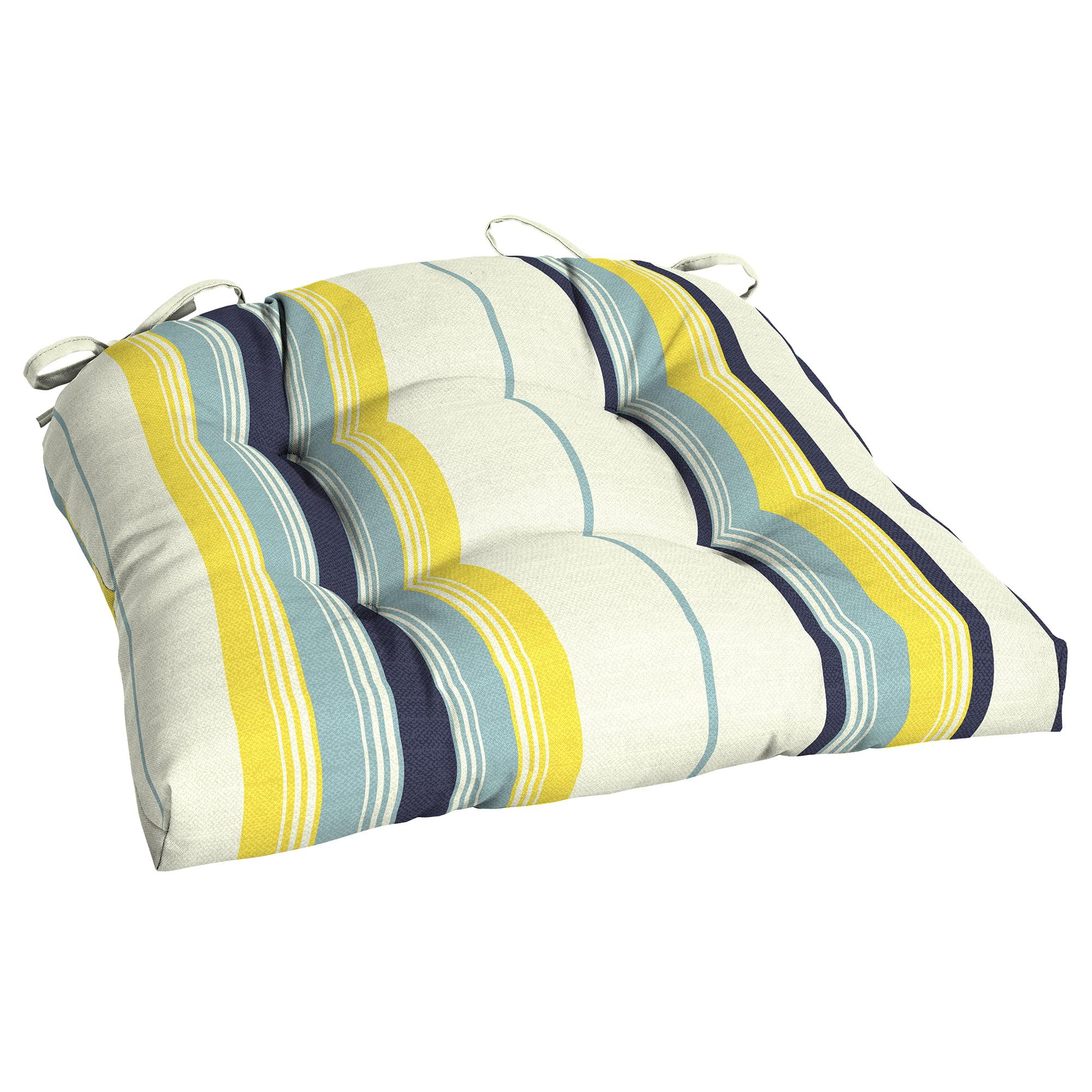 Mainstays Bell Gardens Stripe Outdoor Patio Wicker Seat Cushion