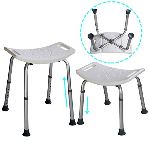 Adjustable Height shower chairs for bathtub bathroom shower seat stools for elderly