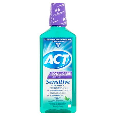 Act Total Care Anticavity Fluoride Mint Mouthwash  18Oz