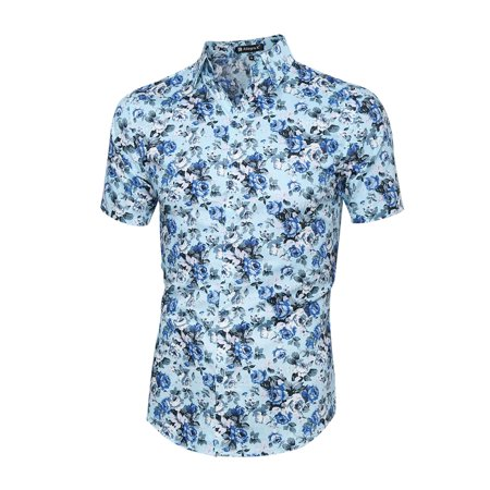 Unique Bargains Men 39 S Point Collar Short Sleeve Button