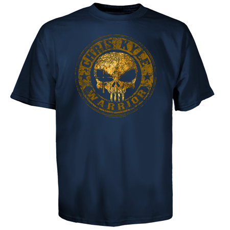 A&e Designs T-shirt (Chris Kyle Frog Foundation Men's Warrior Seal T-Shirt Blue)