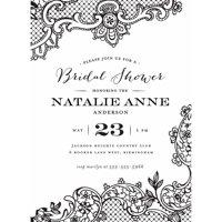product image loving lace standard bridal shower invitation