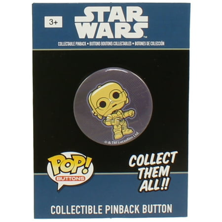 All Star Sports Collectibles - Funko Collectible Pinback Buttons - Classic Star Wars - C-3PO
