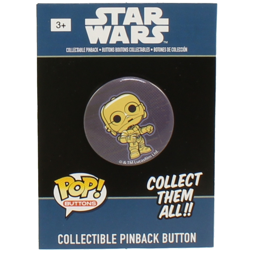 Funko Collectible Pinback Buttons - Classic Star Wars - C-3PO
