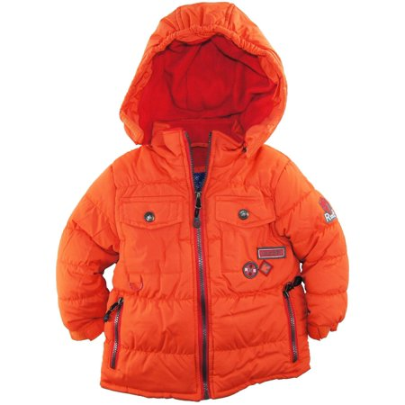 Rugged Bear Baby Boys Solid Snow Puffer Hooded