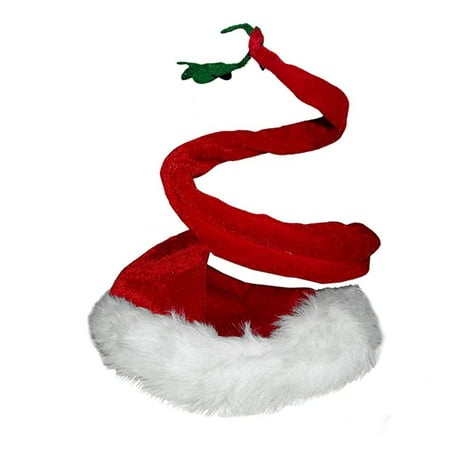Mistle Toe Hat (Curly Santa Hat with)