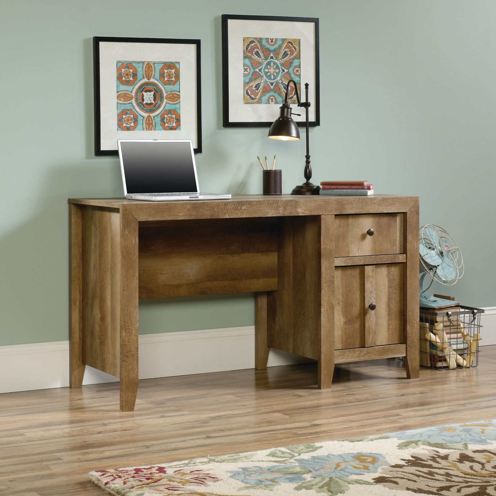 Sauder Dakota Pass Desk, Craftsman Oak
