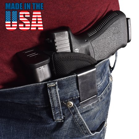 Bluestone Special Ops IWB Holster with Mag Inside waistband holster for Glock 17, Glock 19, Glock 26, Glock 27, Glock 30, Sig P229, Sig 226, Sig 228, etc. Iwb holster Glock 19 Black, Left Hand