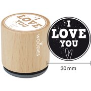 """Woodies Mounted Rubber Stamp 1.35""""-I Love You"""