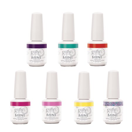 Gelish Mini Soak Off Gel Nail Polish Rocketman 6 Colors w/1 Glitter Overlay, 9mL ()