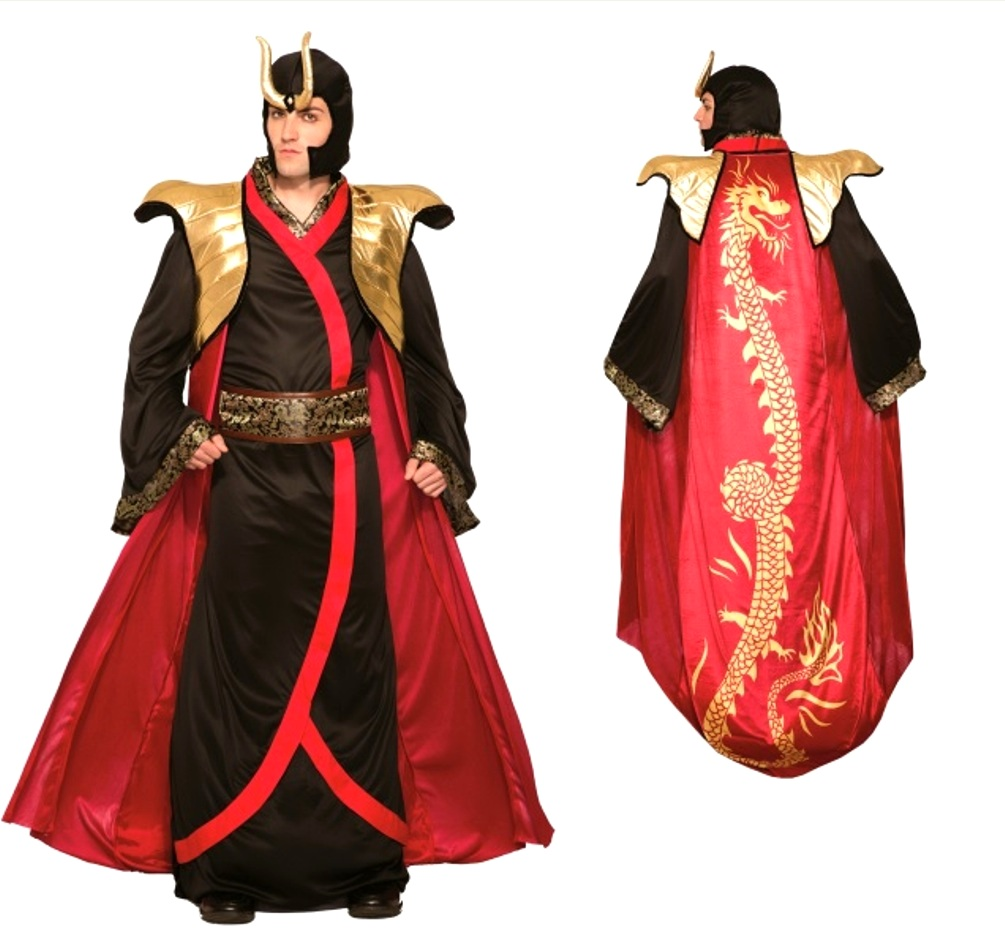 dragon emperor robe n' cape halloween costume men asian cosplay