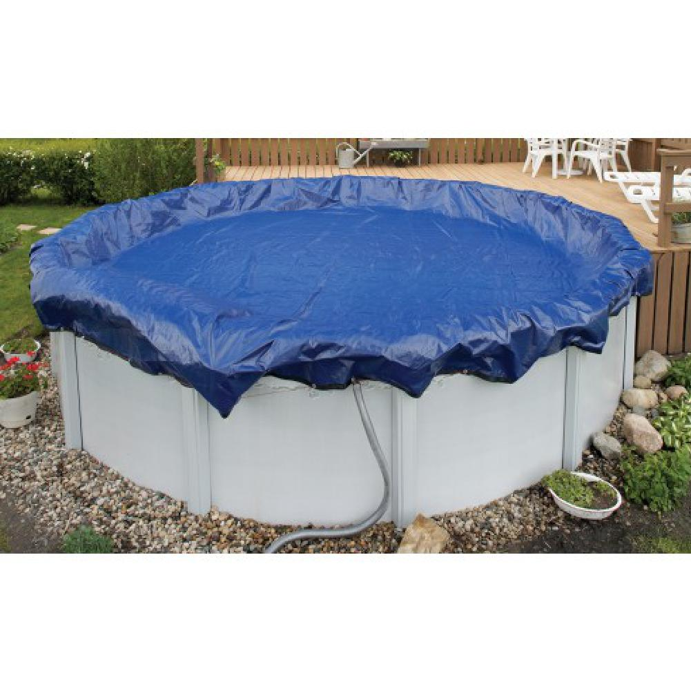 Blue Wave WC926-4 Above-Ground 15 Year Winter Cover For 16' x 28' Oval Pool
