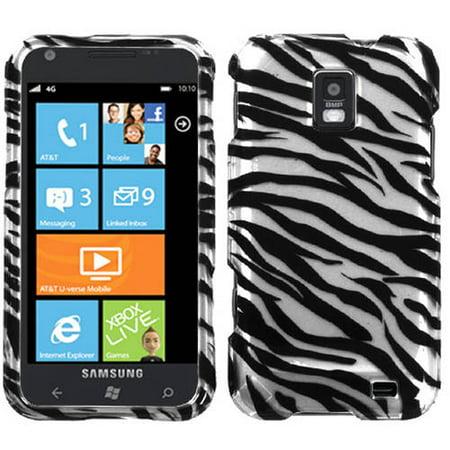 Samsung I937 Focus S MyBat Protector Case, Zebra Skin 2D (2d Purple Zebra)