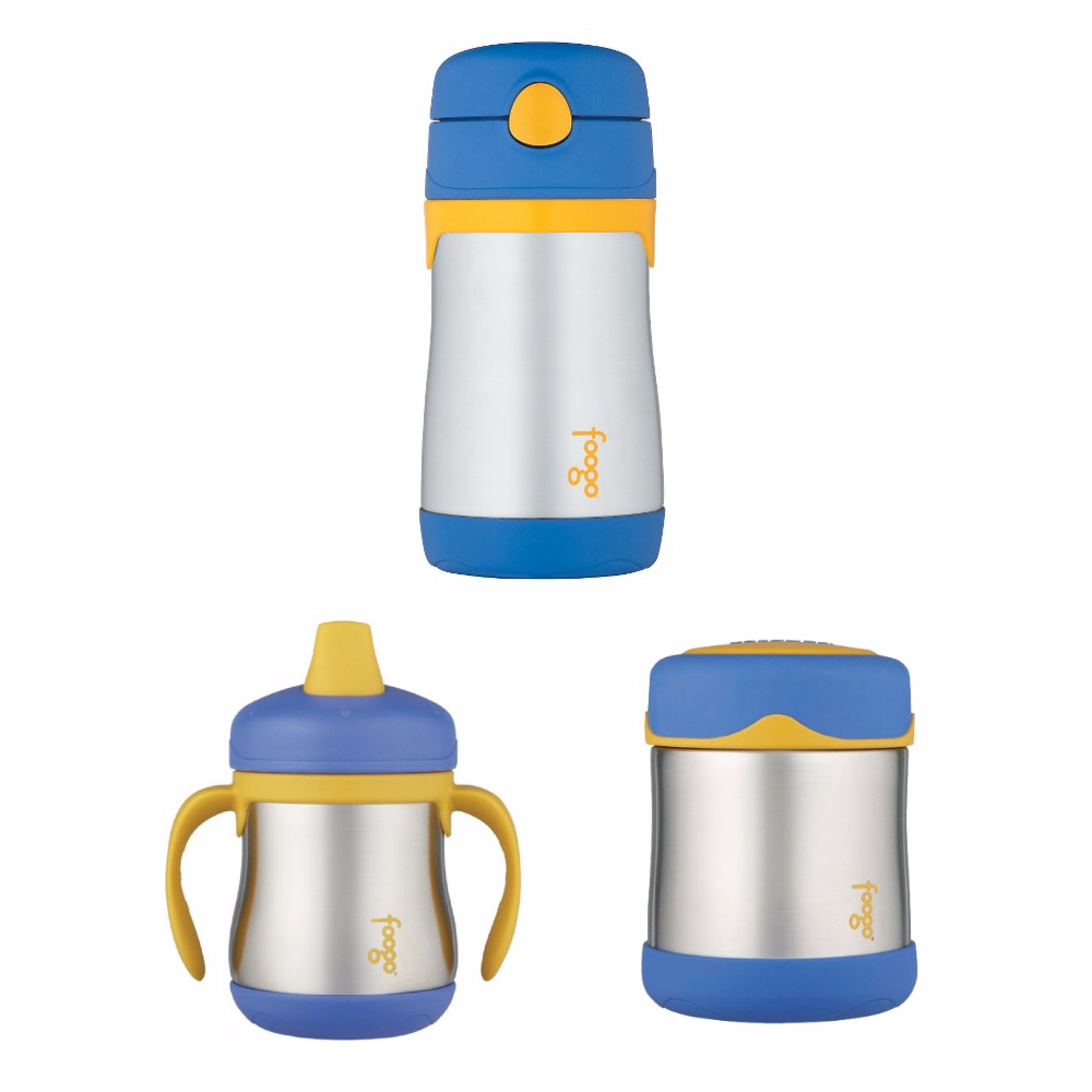 THERMOS FOOGO Vacuum Insulated S/S Food Jar and Water Bottle Bundle