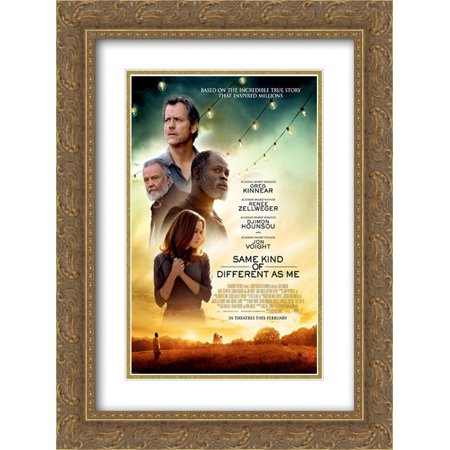 Same Kind Of Different As Me 18X24 Double Matted Gold Ornate Framed Movie Poster Art Print