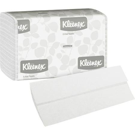 Kleenex, KCC01500, C-Fold Towels, 2400 / Carton, White C-fold Replacement Towels