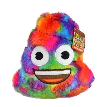 Emoji Rainbow Poop Plush Coin Bank Kids Piggy Bank Soft Bedroom Decor