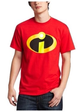Men's Disney Pixar The Incredibles Basicon Logo Classic Red Short Sleeve Graphic T-shirt
