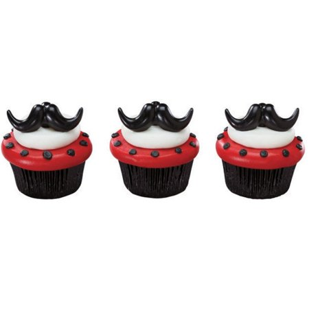 Mustache Party Cupcake Rings (8 ct) (Buy A Mustache)