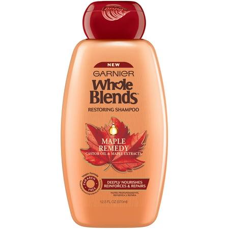 Garnier Whole Blends Maple Remedy Restoring Shampoo 12.5 fl. oz. Bottle