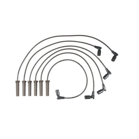 Accel 116082 Spark Plug Wire Set; Straight Boot; 6 Piece