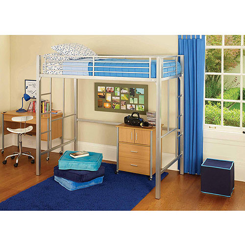 your zone metal loft twin bed with mattress