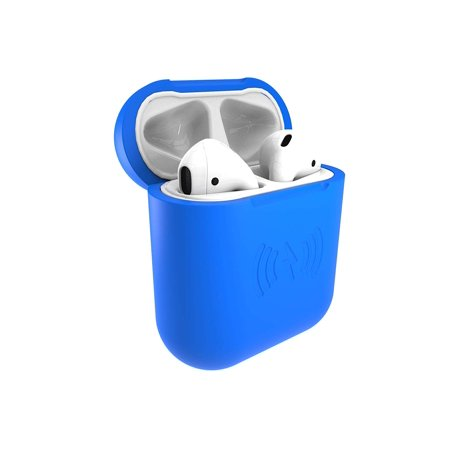 SliQ by East Brooklyn Labs EarPod Wireless Qi Charging and Protective Case for Ear Pod Earphones, Durable Soft Touch Silicone, Great Gift Idea,, Blue ()