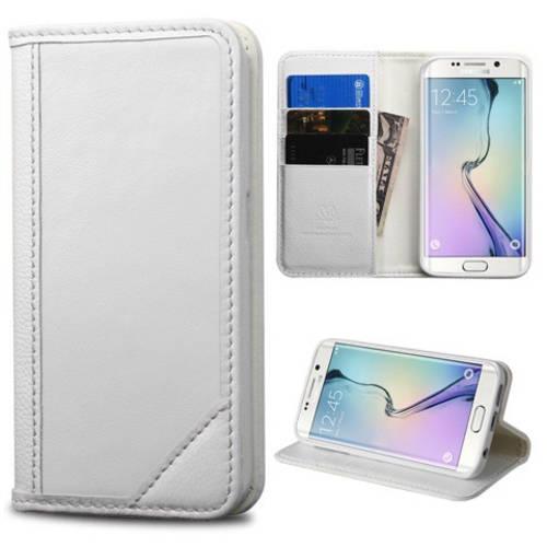 Samsung Galaxy S6 Edge MyBat Genuine Leather MyJacket Wallet Case