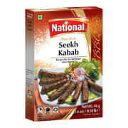 National Foods Seekh Kabab Recipe Mix 1.60 oz (46g)   South Asian BBQ Masala Powder   Traditional Spicy Kebab Seasoning   Box Pack