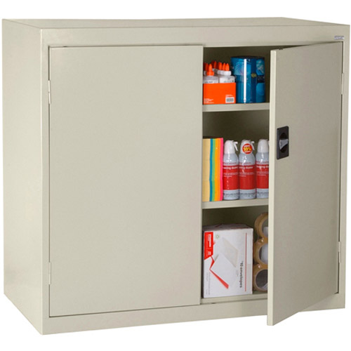 "Elite Series Counter Height Storage Cabinet with Adjustable Shelves, 46""W x 24""D x 42""H, Putty"