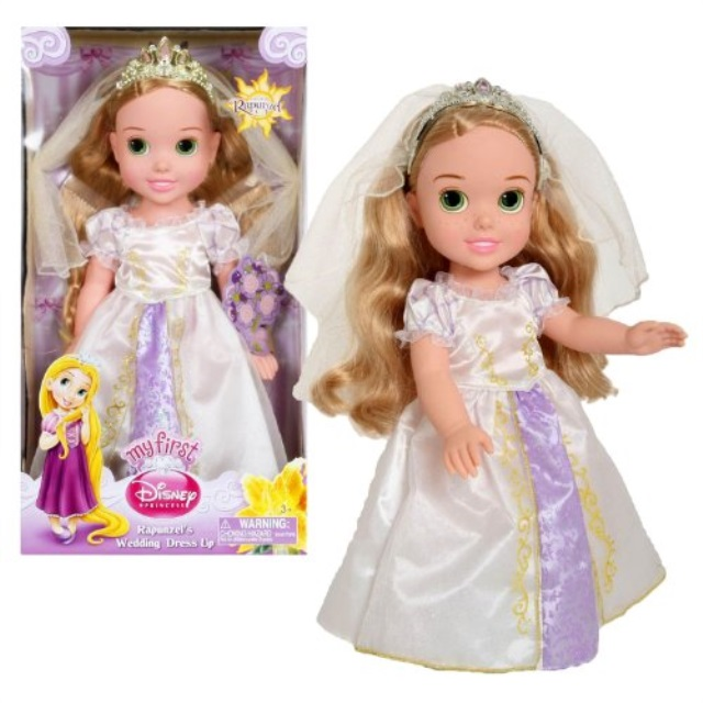 Jakks Pacific My First Disney Princess Series 14 Inch Doll Set - RAPUNZEL'S WEDDING DRESS UP with Veil Tiara