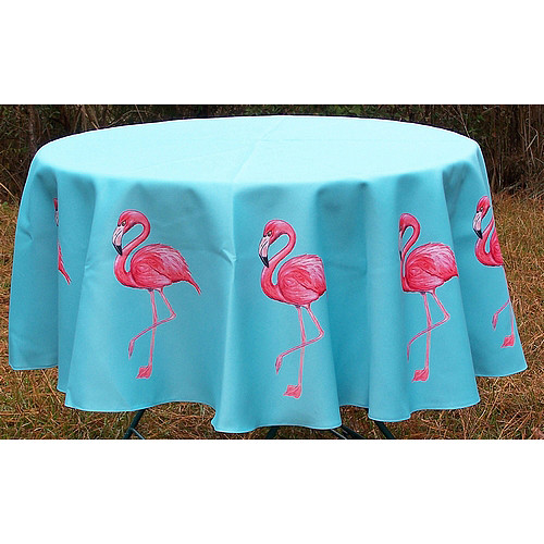 Betsy Drake Interiors Flamingo Round Tablecloth