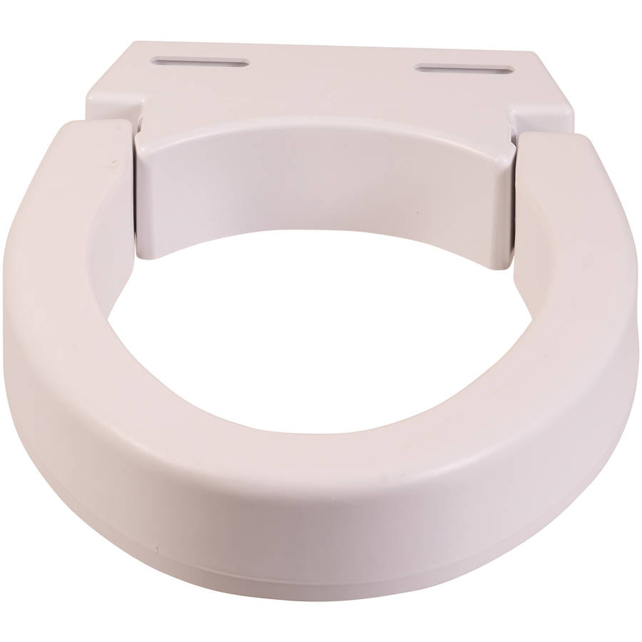 elongated raised toilet seat. mabis hinged elevated toilet seat riser, elongated, white elongated raised