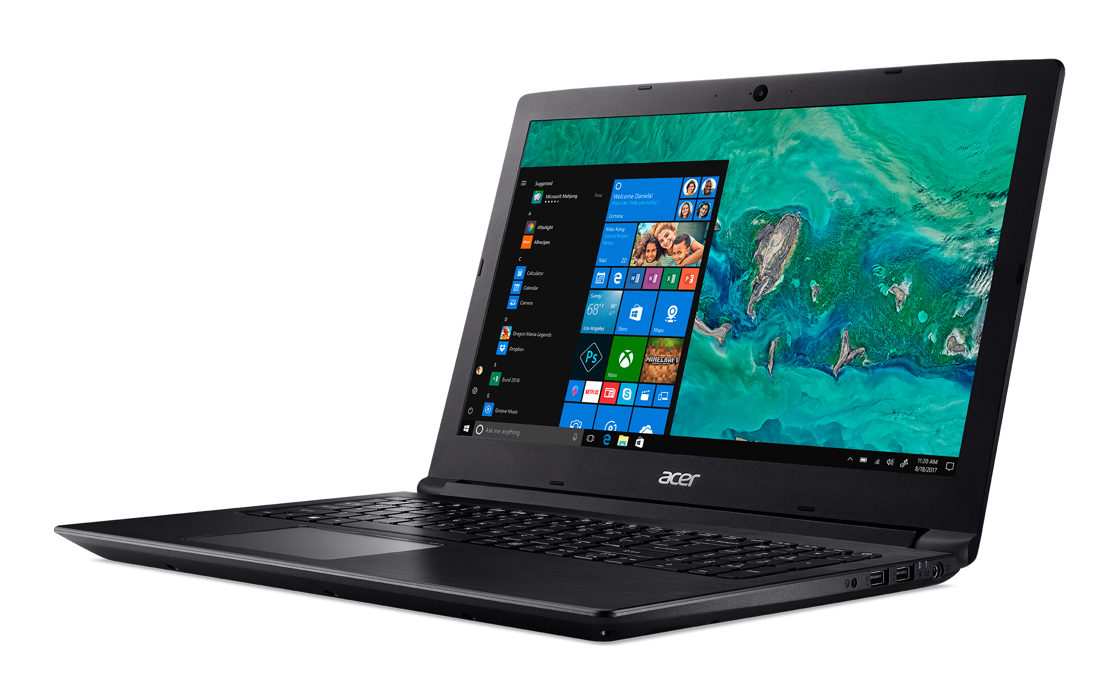 "Acer 15.6"" FHD Laptop (Quad Core Ryzen 7 2700U / 8GB / 256GB SSD)"