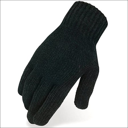 08 SIZE HERITAGE HORSE RIDING CHENILLE KNIT GLOVE ACRYLIC FIBERS