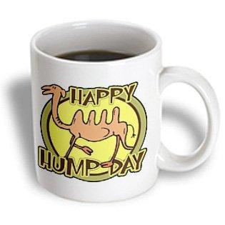 3dRose Funny Happy Hump Day Camel Cartoon Design, Ceramic Mug, 11-ounce - Hump Day Camel Halloween