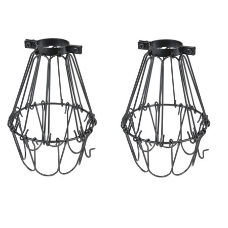 Artifact Design Vintage Style Black Hanging Pendant Light Fixture Metal Wire Cage Lamp Guard