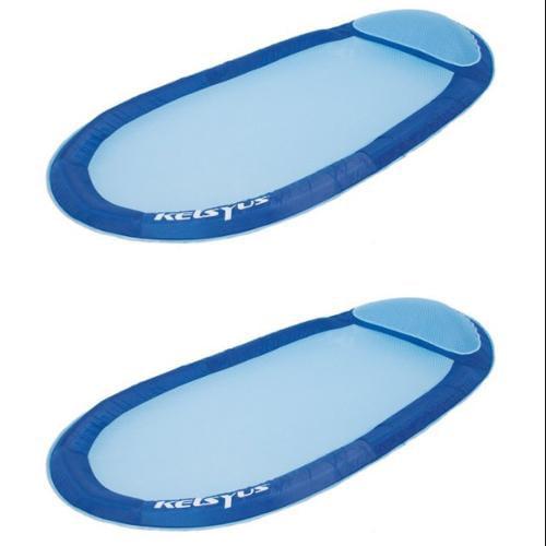 Kelsyus Floating Hammock Inflatable Pool Lounger Raft - Blue (Set of 2) | 80032