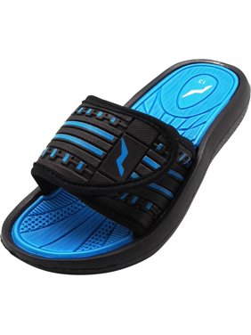 bcb76c6d0a2f Product Image Norty Boys Summer Comfort Casual Slide Flat Strap Shower Sandals  Slip On Shoes