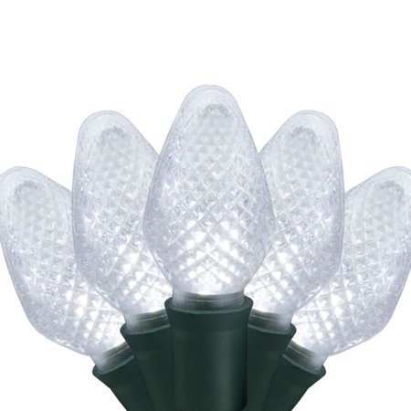 Holiday Time 25 Cool White LED C7 Lights Faceted Holiday String Light Set - Walmart.com
