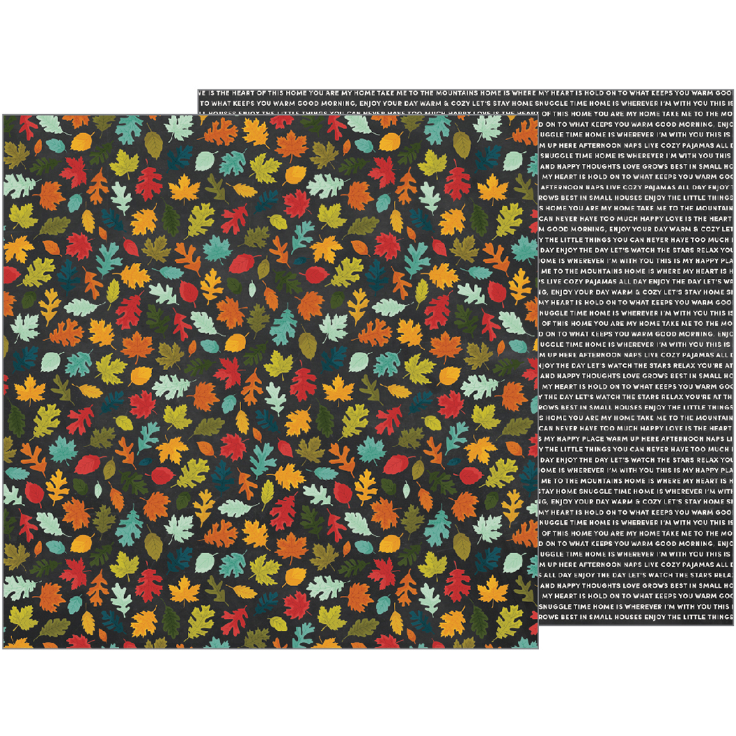 American Craft Pebbles Warm And Cozy Collection 12 X 12 Double Sided Paper Fall Day