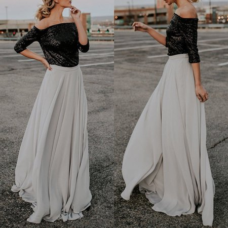 Gypsy Fancy Dress Ideas (Hot Womens Flared Gypsy Boho Long Maxi Full Skirt Party Beach Dress Evening)