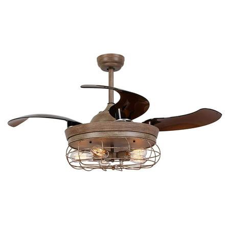 Ceiling fan with light 46 inch industrial ceiling fan - Fan with retractable blades ...